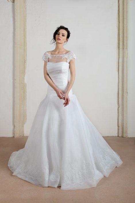 Vestito romantico da sposa