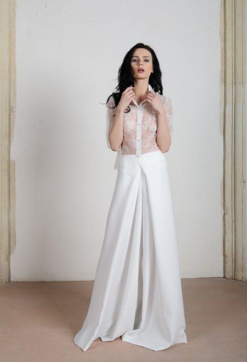 Pantalone e Camicia abito da sposa