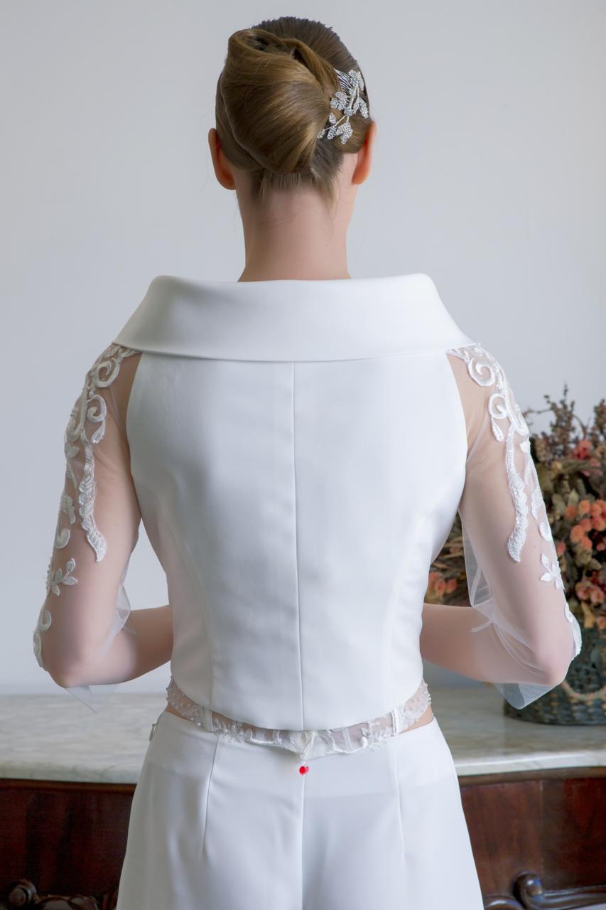 top e pantalone per sposa