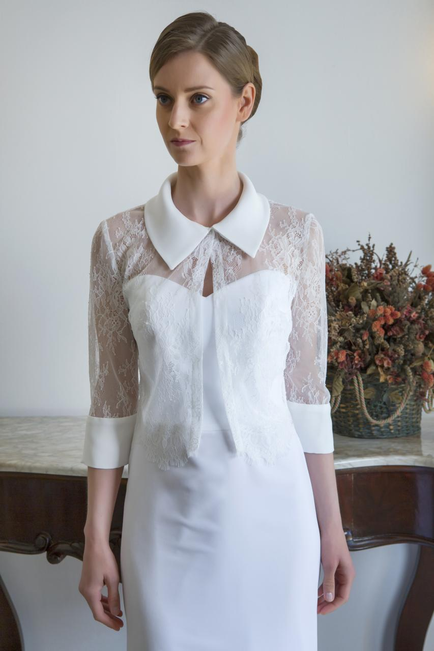 camicia per sposa di pizzo chantilly
