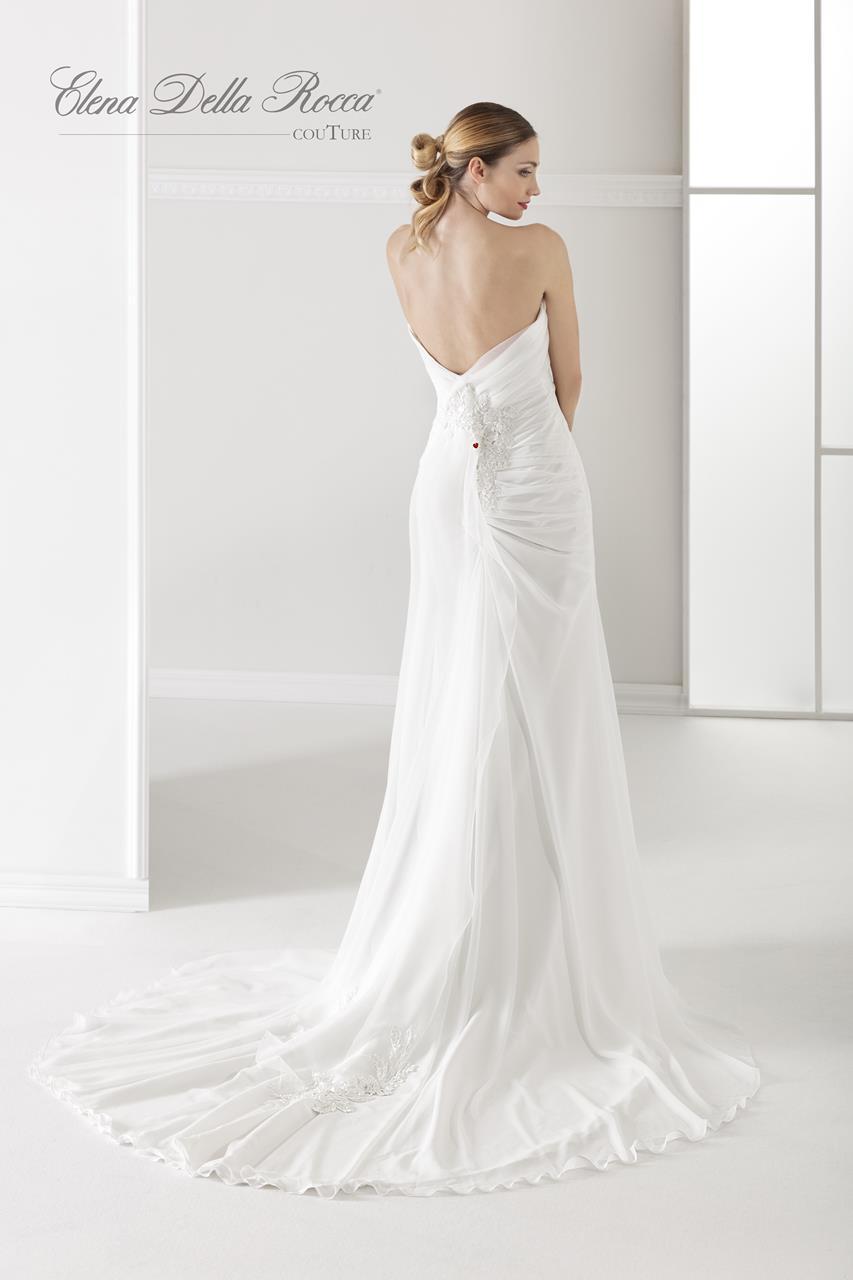 abito drappeggiato da sposa