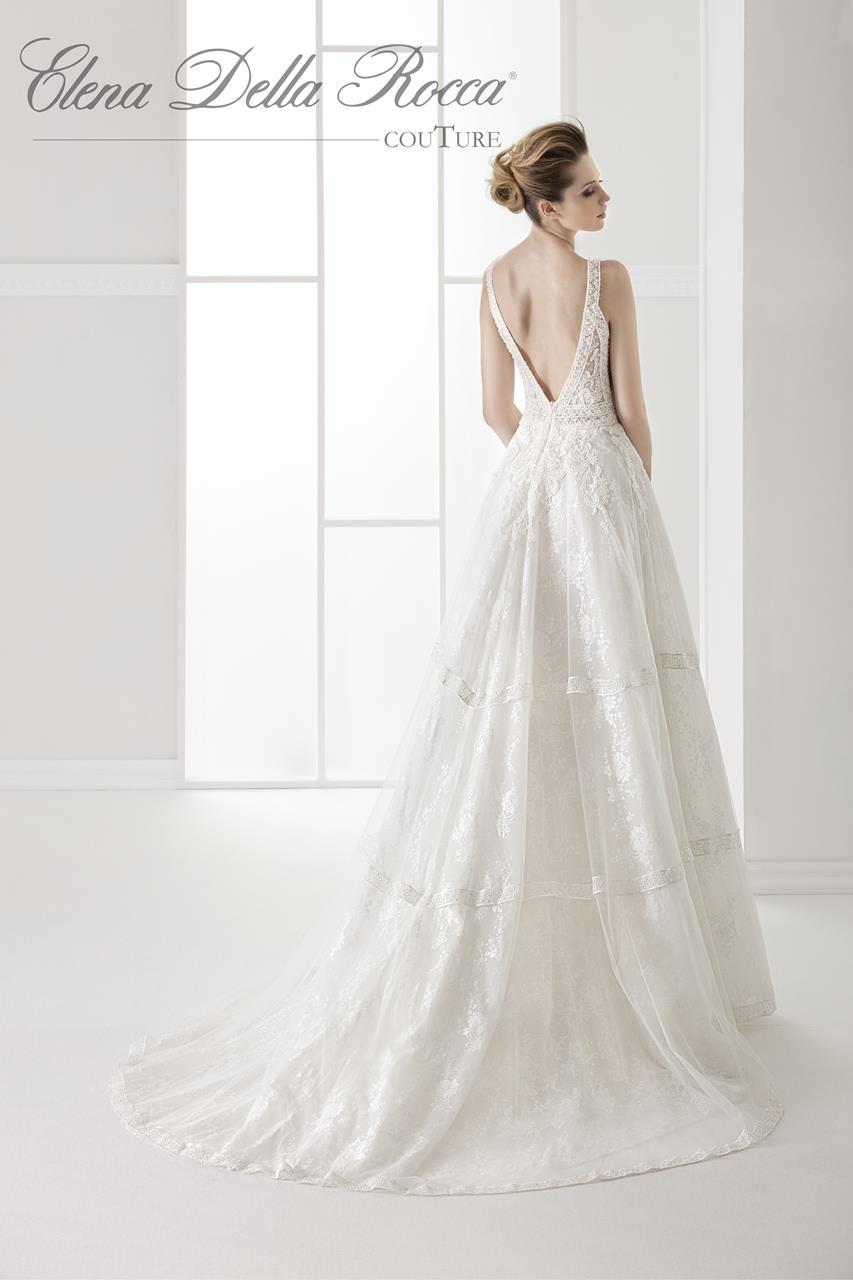 abito da sposa in macramè