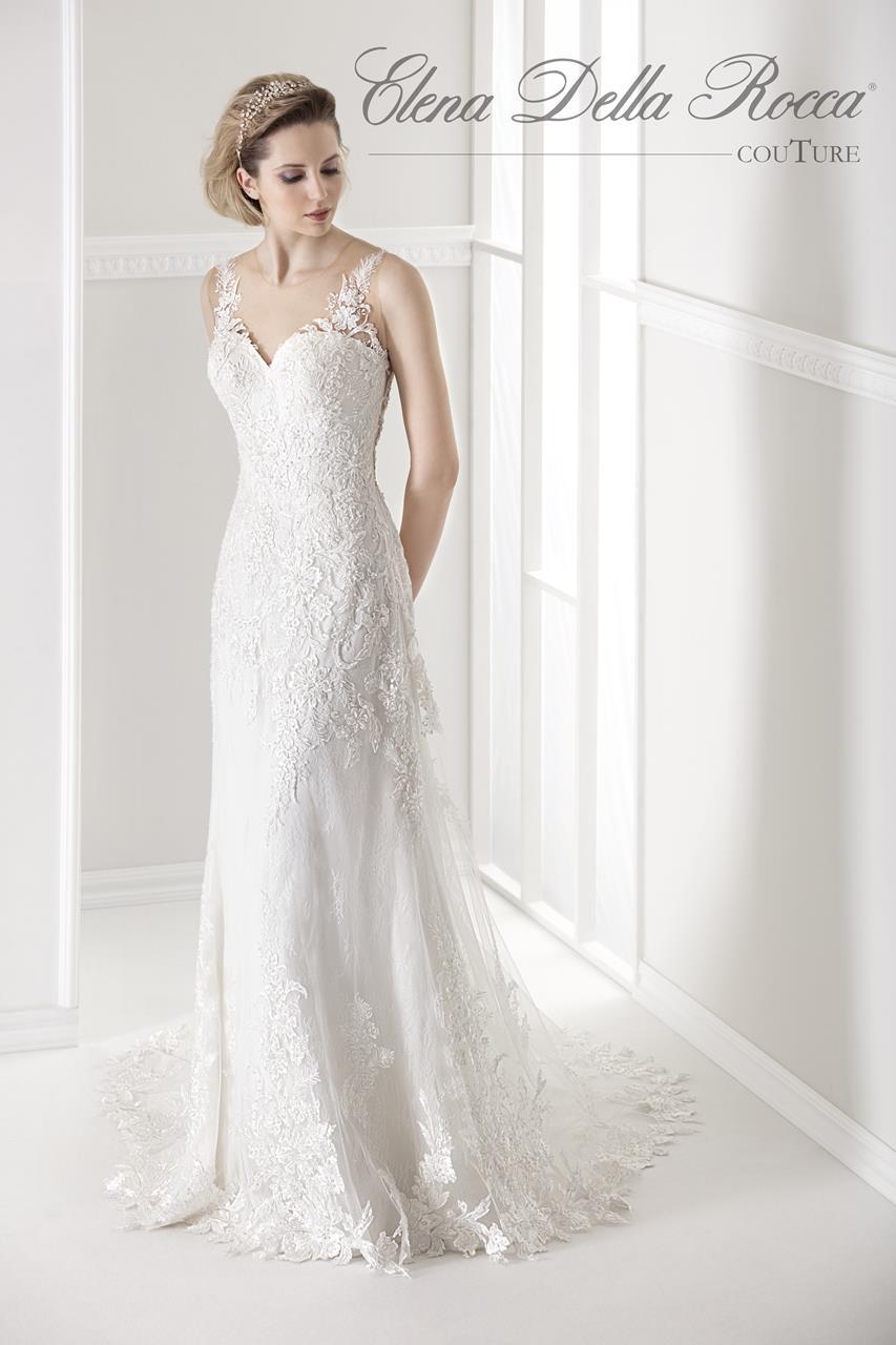 abito da sposa con sopragonna