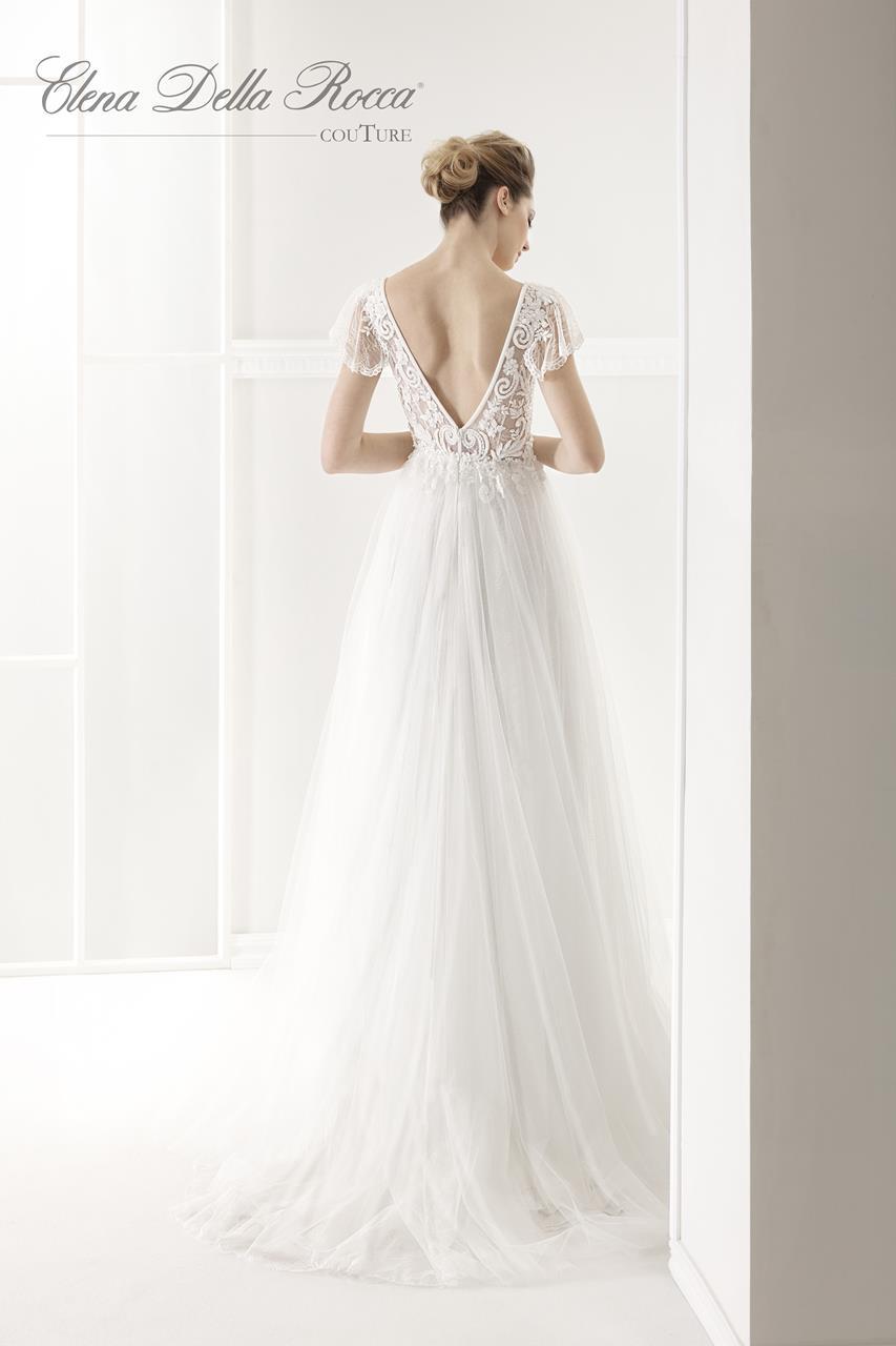 abito da sposa con corpino ricamato